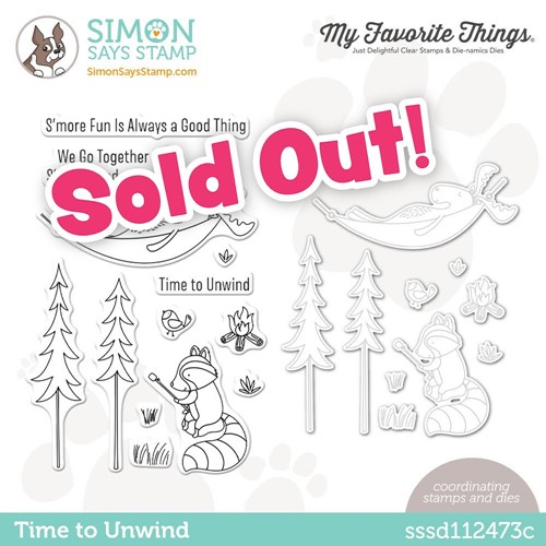 My Favorite Things TIME TO UNWIND Stamptember Exclusive Stamp and Die Set sssd112473c Preview Image