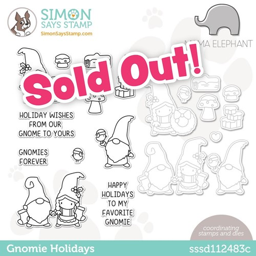 Mama Elephant GNOMIE HOLIDAYS Stamptember Exclusive Stamp and Die Set sssd112483c Preview Image