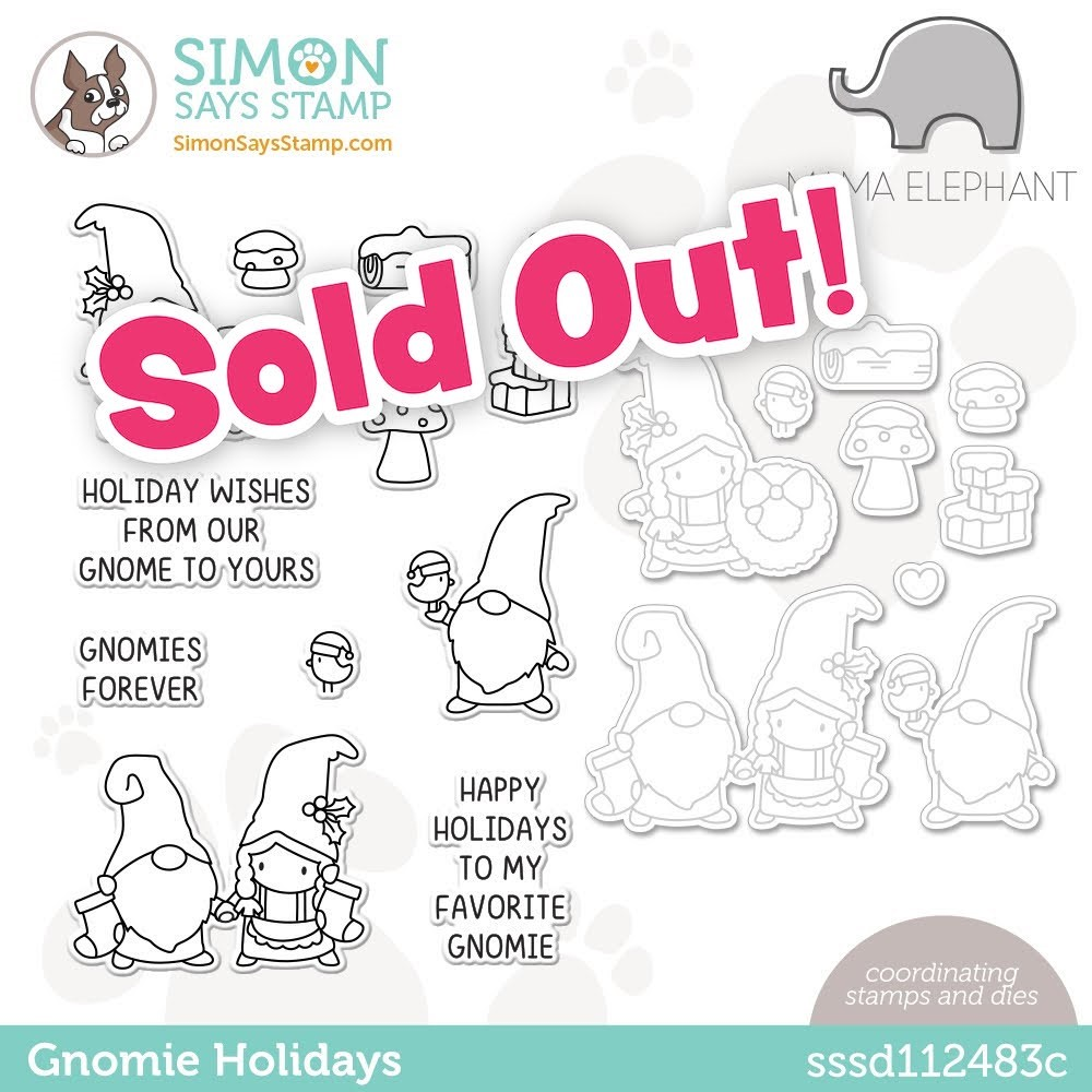 Mama Elephant GNOMIE HOLIDAYS Stamptember Exclusive Stamp and Die Set sssd112483c zoom image