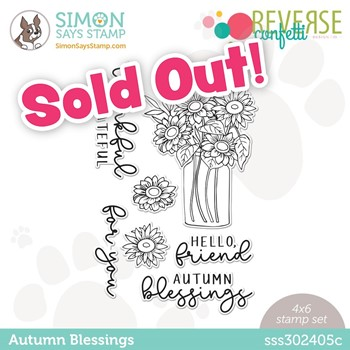 Reverse Confetti AUTUMN BLESSINGS Stamptember Exclusive Stamp Set sss302405c
