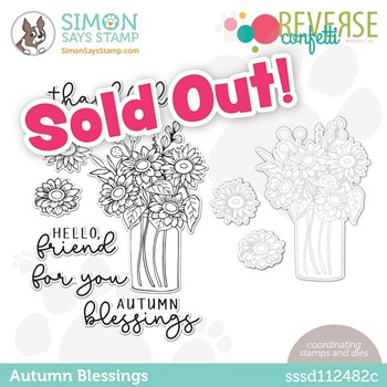 Reverse Confetti AUTUMN BLESSINGS Stamptember Exclusive Stamp and Die Set sssd112482c