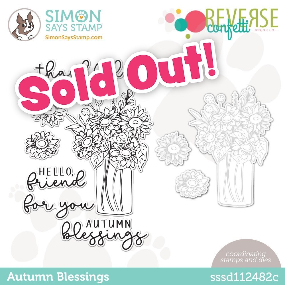 Reverse Confetti AUTUMN BLESSINGS Stamptember Exclusive Stamp and Die Set sssd112482c zoom image