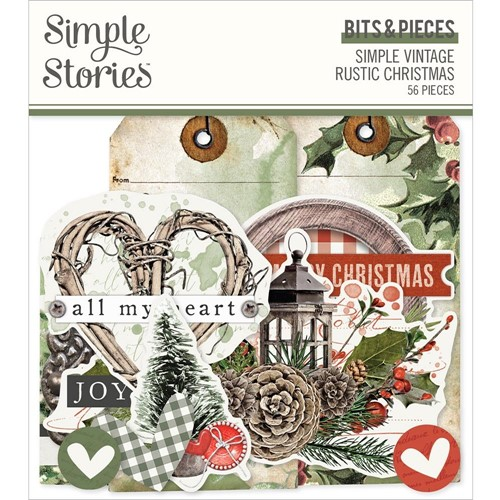 Simple Stories VINTAGE RUSTIC CHRISTMAS Bits And Pieces 16021 Preview Image
