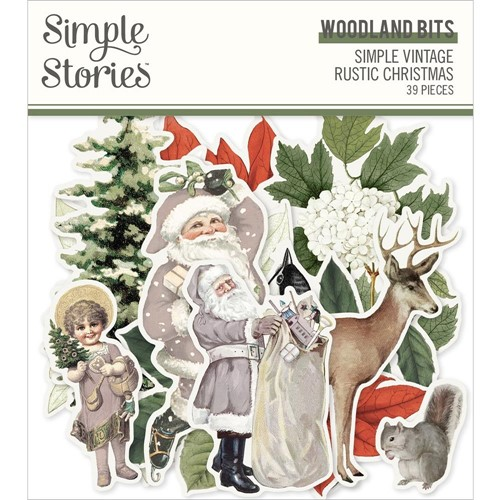 Simple Stories VINTAGE RUSTIC CHRISTMAS Woodland Bits And Pieces 16022 Preview Image