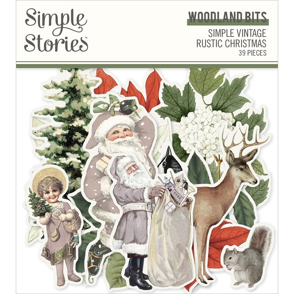 Simple Stories VINTAGE RUSTIC CHRISTMAS Woodland Bits And Pieces 16022 zoom image