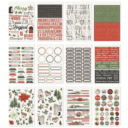 Simple Stories VINTAGE RUSTIC CHRISTMAS Sticker Book 16023 Preview Image