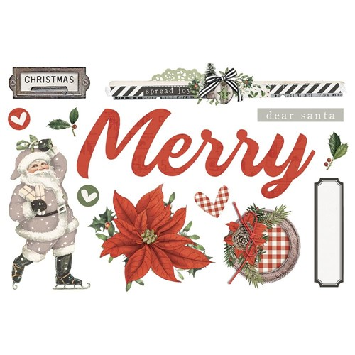 Simple Stories VINTAGE RUSTIC CHRISTMAS Page Pieces 16033 Preview Image