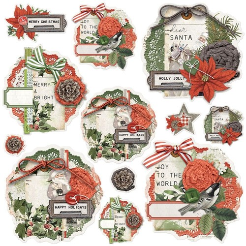 Simple Stories VINTAGE RUSTIC CHRISTMAS Chipboard Clusters 16037 Preview Image