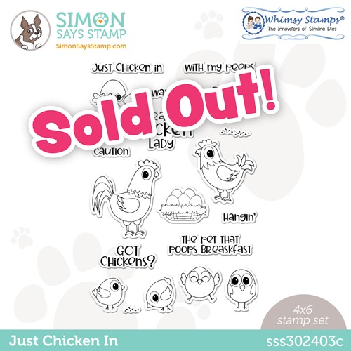 Whimsy Stamps JUST CHICKEN IN Stamptember Exclusive Stamp Set sss302403c Preview Image