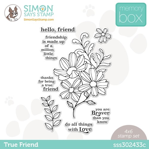 Memory Box TRUE FRIEND Stamptember Exclusive Stamp Set Preview Image
