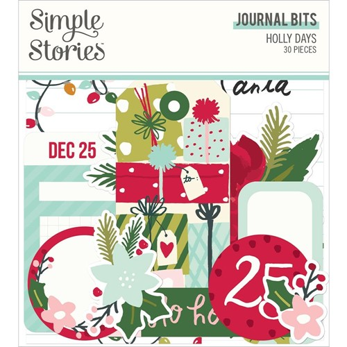 Simple Stories HOLLY DAYS Journal Bits And Pieces 16117 Preview Image