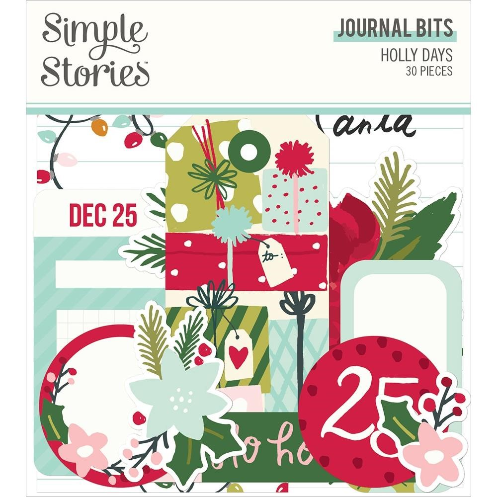 Simple Stories HOLLY DAYS Journal Bits And Pieces 16117 zoom image