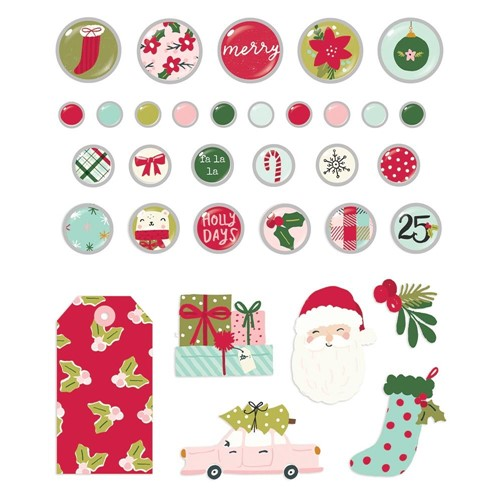 Simple Stories HOLLY DAYS Decorative Brads 16122 Preview Image