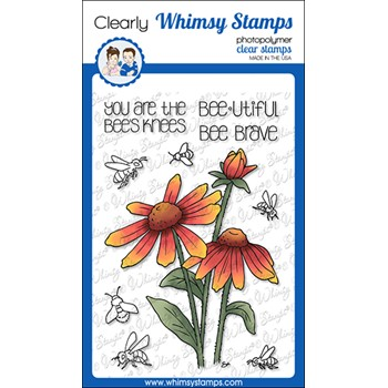 Whimsy Stamps BARBRA BEES KNEES Clear Stamps BS1032