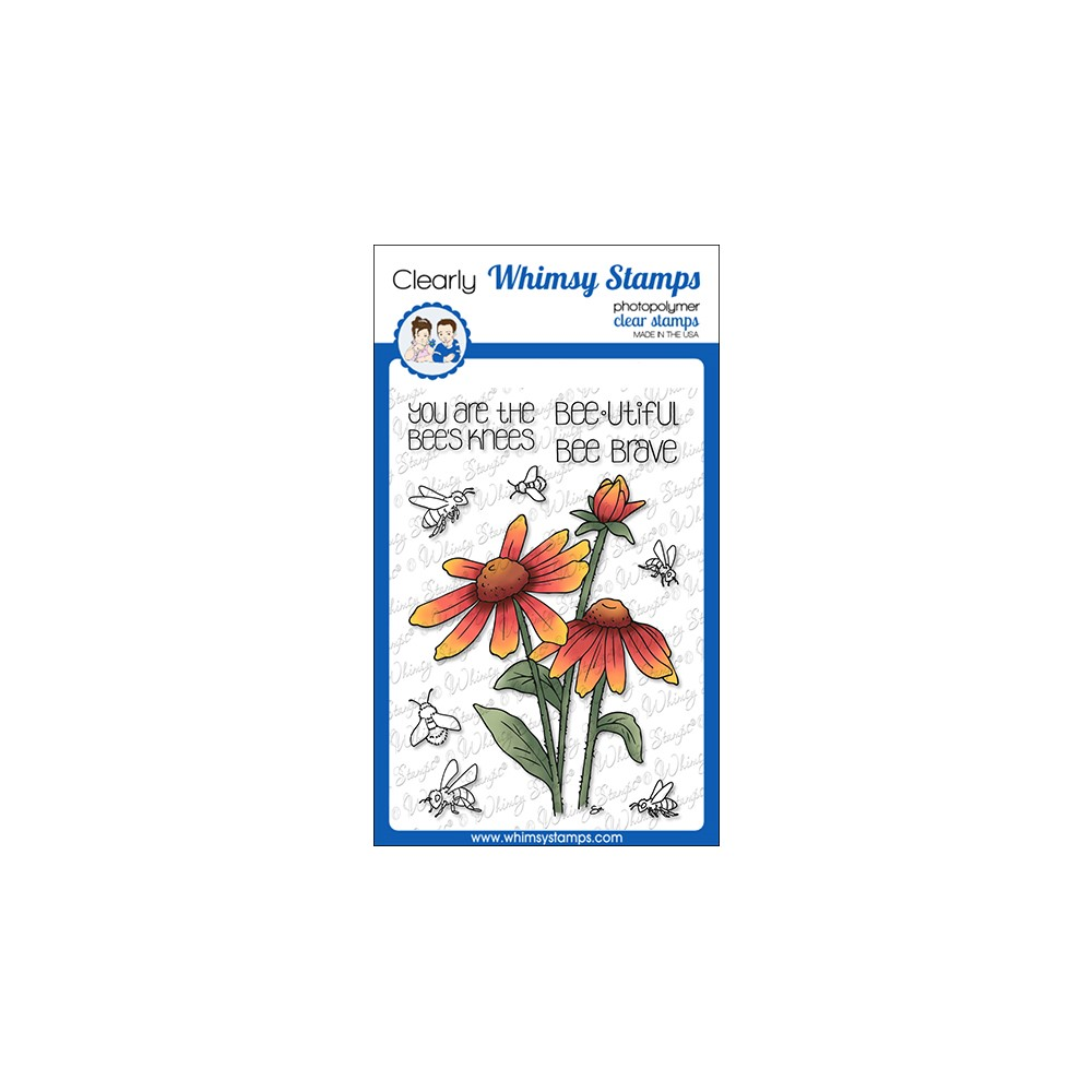 Whimsy Stamps BARBRA BEES KNEES Clear Stamps BS1032 zoom image