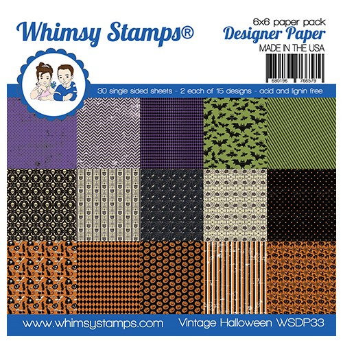 Whimsy Stamps VINTAGE HALLOWEEN 6 x 6 inch Paper Pad WSDP33 Preview Image