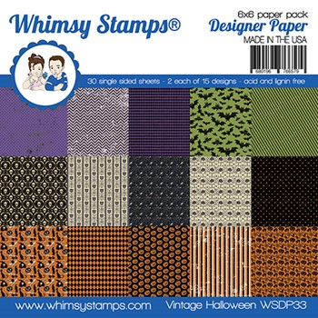 Whimsy Stamps VINTAGE HALLOWEEN 6 x 6 inch Paper Pad WSDP33
