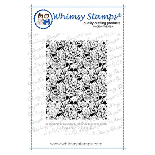 Whimsy Stamps ZOMBIE FACES Cling Stamp DDB0064 Preview Image