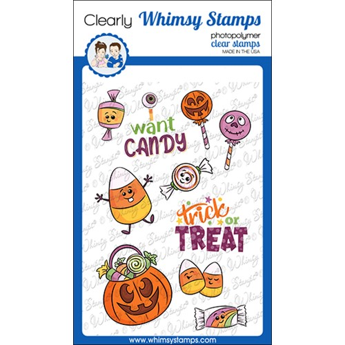 Whimsy Stamps I WANT CANDY Clear Stamps KHB145a Preview Image