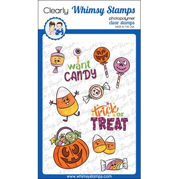 Whimsy Stamps I WANT CANDY Clear Stamps KHB145a