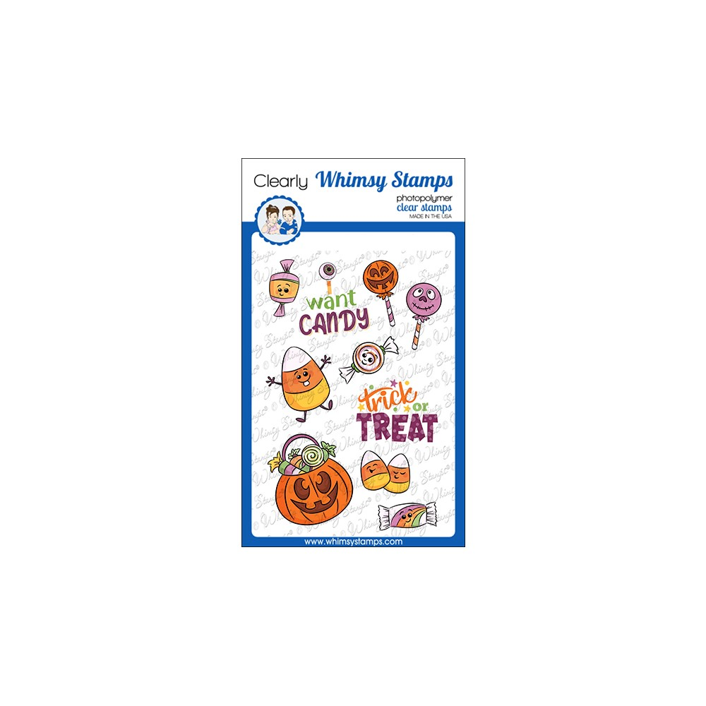 Whimsy Stamps I WANT CANDY Clear Stamps KHB145a zoom image