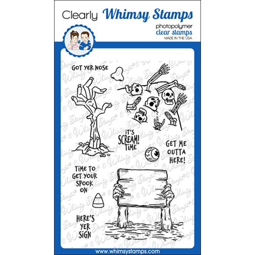 Whimsy Stamps SCREAM TIME Clear Stamps CWSD387 Preview Image