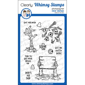 Whimsy Stamps SCREAM TIME Clear Stamps CWSD387