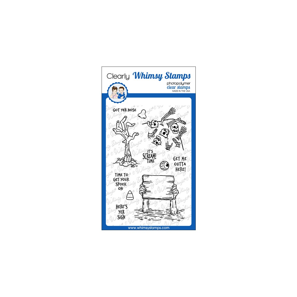 Whimsy Stamps SCREAM TIME Clear Stamps CWSD387 zoom image