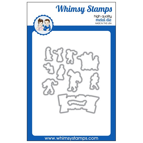Whimsy Stamps ZOMBIE PARTY Outline Dies WSD568 Preview Image