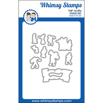 Whimsy Stamps ZOMBIE PARTY Outline Dies WSD568