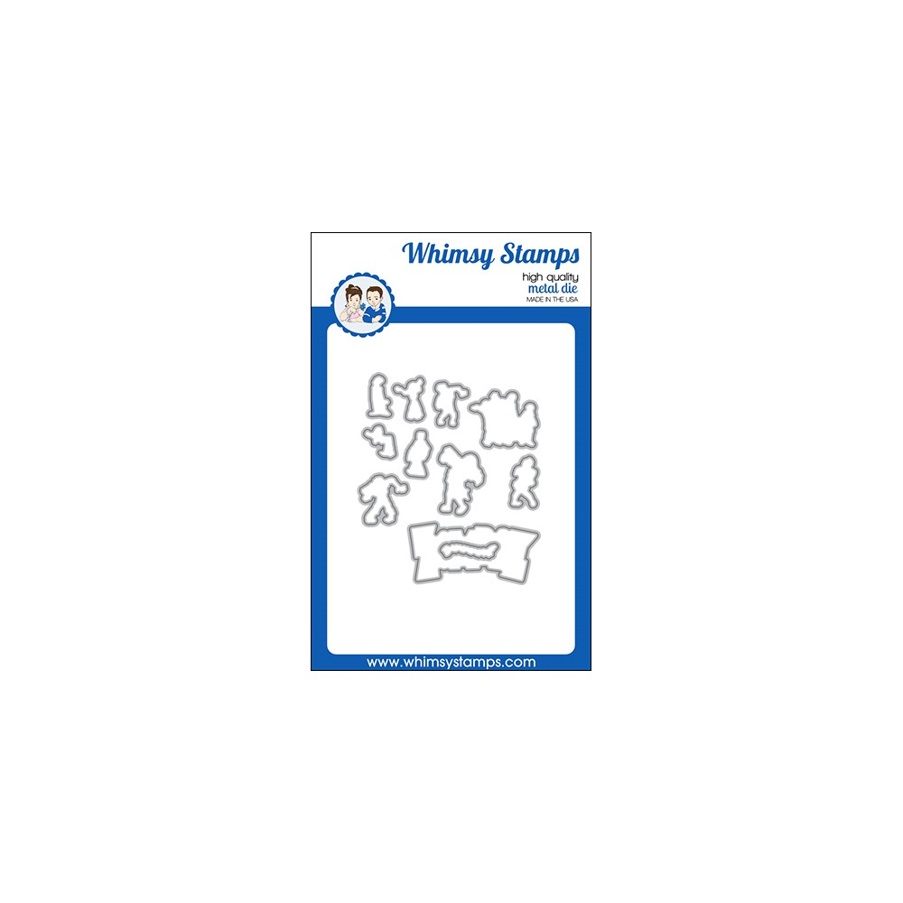 Whimsy Stamps ZOMBIE PARTY Outline Dies WSD568 zoom image