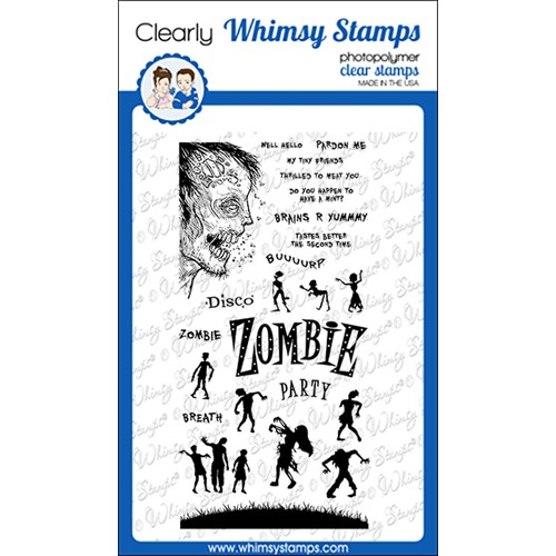 Whimsy Stamps ZOMBIE PARTY Clear Stamps CWSD388 Preview Image