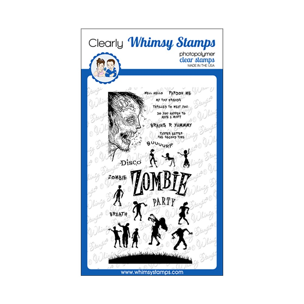 Whimsy Stamps ZOMBIE PARTY Clear Stamps CWSD388 zoom image
