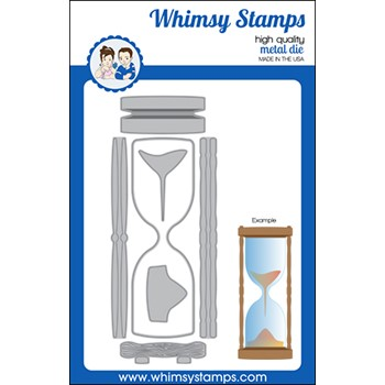 Whimsy Stamps HOUR GLASS Slimline Dies WSD350a