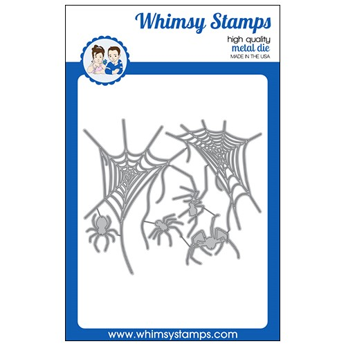 Whimsy Stamps SPIDERS AND WEBS Dies WSD395a Preview Image