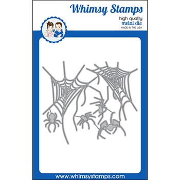 Whimsy Stamps SPIDERS AND WEBS Dies WSD395a