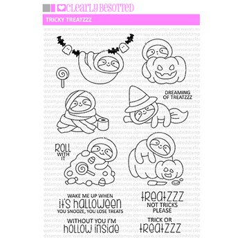 Clearly Besotted TRICKY TREATZZ Clear Stamps