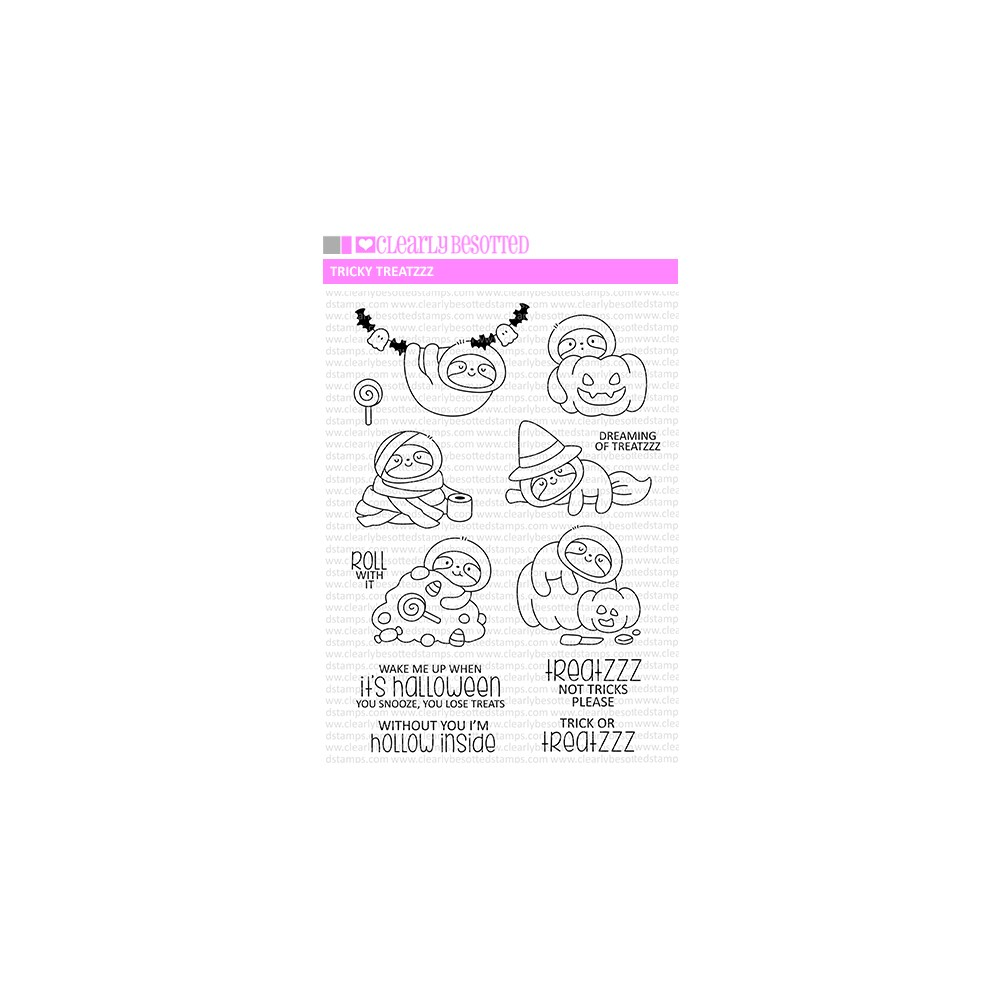 Clearly Besotted TRICKY TREATZZ Clear Stamps zoom image