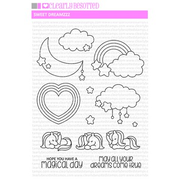Clearly Besotted SWEET DREAMZZ Clear Stamps