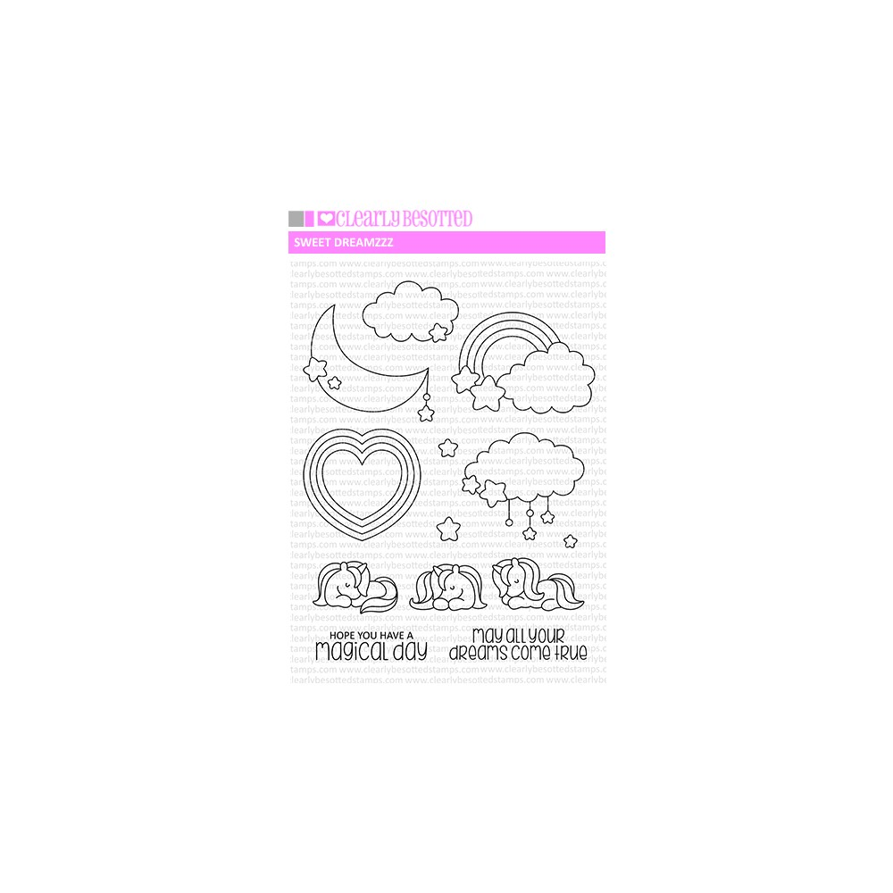 Clearly Besotted SWEET DREAMZZ Clear Stamps zoom image