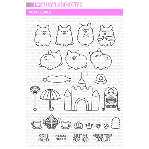 Clearly Besotted ROYAL CORGI Clear Stamps Preview Image