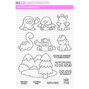 Clearly Besotted MYTHICAL MONSTERS Clear Stamps