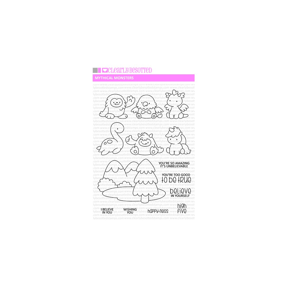 Clearly Besotted MYTHICAL MONSTERS Clear Stamps zoom image