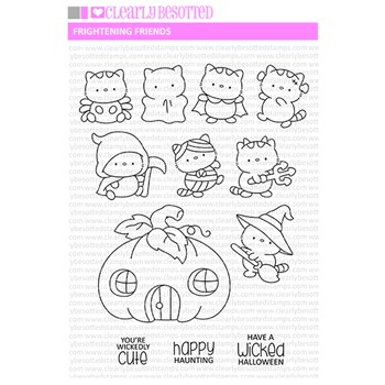 Clearly Besotted FRIGHTENING FRIENDS Clear Stamps