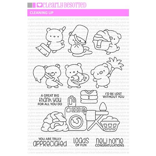 Clearly Besotted CLEANING UP Clear Stamps Preview Image