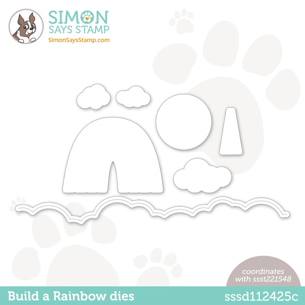 Simon Says Stamp BUILD A RAINBOW Wafer Dies sssd112425c Stamptember zoom image