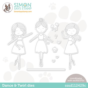 Simon Says Stamp DANCE AND TWIRL Wafer Dies sssd112429c Stamptember *