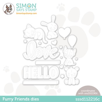 Simon Says Stamp FURRY FRIENDS Wafer Dies sssd112216c Stamptember *