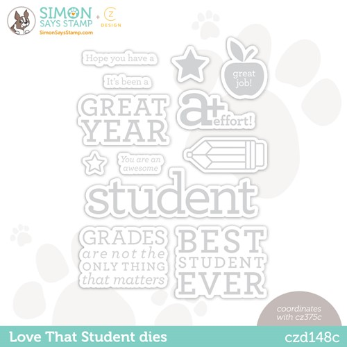 CZ Design Wafer Dies LOVE THAT STUDENT czd148c Stamptember Preview Image
