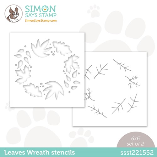 Simon Says Stamp Stencils LEAVES WREATH ssst221552 Stamptember Preview Image